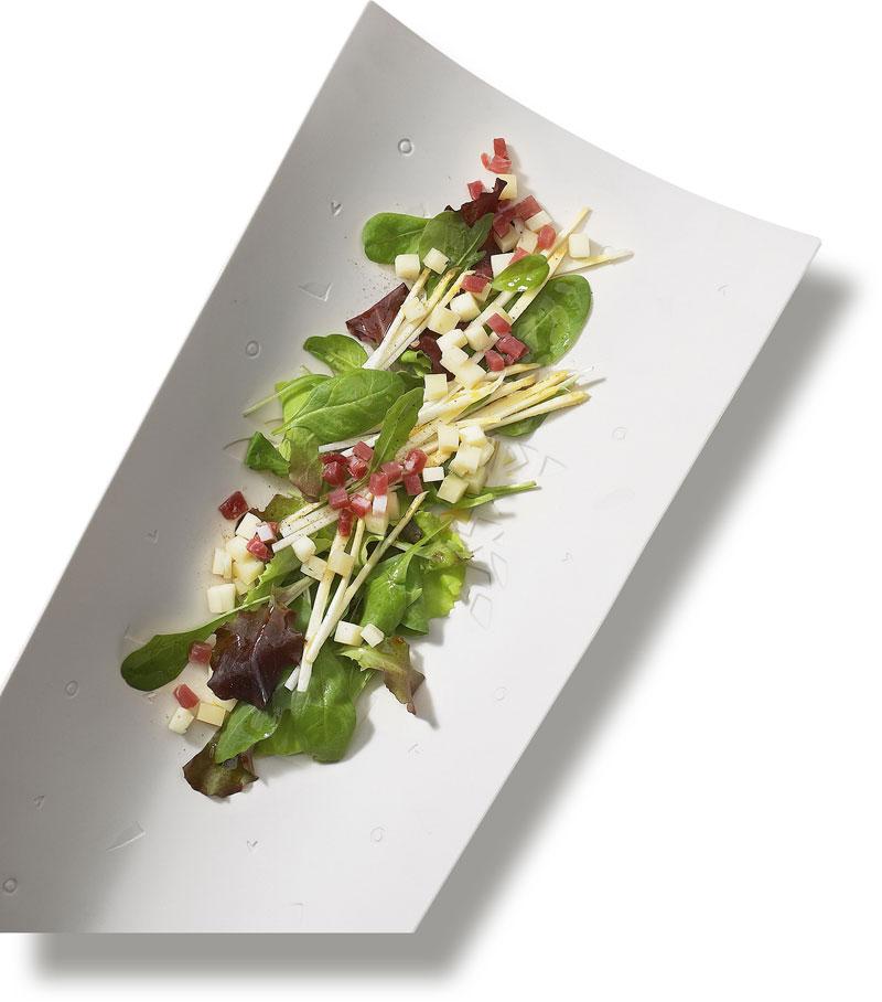 Insalata di asparagi, Asiago Fresco DOP e Speck Alto-Adige IGP